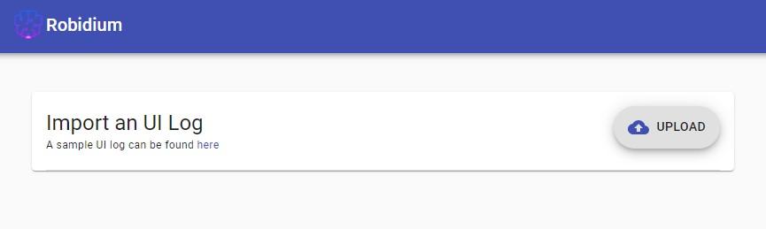 robidium interface log upload